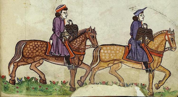 Iluminuras do livro Arte Venandi cum Avibus de Frederic II
