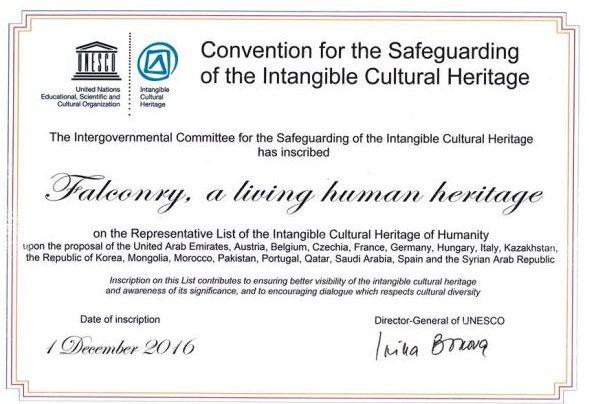 Certificado que atesta o reconhecimento UNESCO
