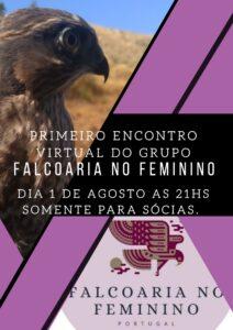 Cartaz encontro Grupo Feminino Associação Portuguesa de Falcoaria
